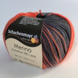Schachemayr Merino extrafine 285 lace f582 rödblå