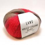 Lang Mille Colori Baby f62 vinrödrostbrunbeige
