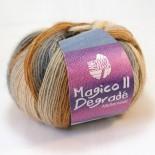 Lana Grossa Meilenweit Magico II f3555 brun/grå