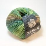 Lana Grossa Cool wool big color f4002 grönmelerad