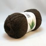 Hjertegarn Aloe Sockwool f294 mörkbrun
