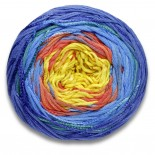 Lang yarns BLOOM f0052 gulorange blågrönblå
