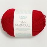 Sandnes Tynn Merinoull f4219 Röd