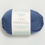 Sandnes Tynn Merinoull f6052 jeansblå