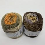 Lang yarns Merino 150 degradé f0006 syrenorangebeigebrun