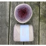 Laines de Nord Poema f23 vinröd lavendel beige