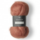 Isager SIlk Mohair f 28 coral