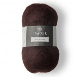 Isager SIlk Mohair f 36 plommon