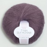 Sandnes Tynn Silk mohair f5042 dämpad lila