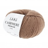 Lang yarns Cashmere Premium f139 varmt brunbeige