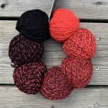 Schoppel-wolle Zauberperlen f2459 röd till svart