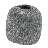 Lana Grossa Brillino f006 silver m grå tråd