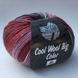 Lana Grossa Cool wool big color f4004 vinrödlilagrå