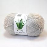 Hjertegarn Aloe Sockwool f434 ljusgrå