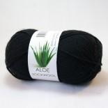 Hjertegarn Aloe Sockwool f500 svart