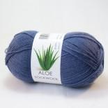 Hjertegarn Aloe Sockwool f2163 mellanblå