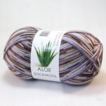 Hjertegarn Aloe Sockwool f5070 brunlila