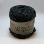 Hjertegarn Wool silk f3011 antracit