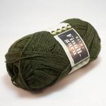 Rauma Finullgarn 0486 mörkt grönbrun