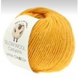 Lana Grossa Slow wool Canapa f0015 maskrosgul