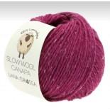 Lana Grossa Slow wool Canapa f0017 m. cerise