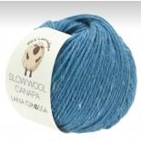 Lana Grossa Slow wool Canapa f0018 himmelsblå