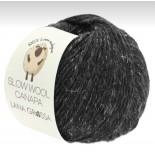 Lana Grossa Slow wool Canapa f0007 svart