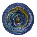 Lana Grossa Gomitolo Denim Inca f0153 blåsenaplilagrön
