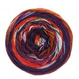 Lana Grossa Gomitolo Denim Inca f0154 rödplommonrostvinröd