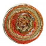 Lana Grossa Gomitolo Denim Inca f0158 orangebeigegulbrun