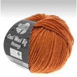 Lana Grossa Cool wool big melange f348 mörk apelsin