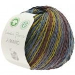 Lana Grossa Linea Pura A Mano f011 dovt blågrönbrun