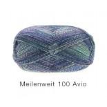 Lana Grossa Meilenweit 100 Avio f1754 blåturkoscerisemel.