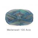 Lana Grossa Meilenweit 100 Avio f1755 blågrönvinrödmel.