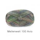 Lana Grossa Meilenweit 100 Avio f1756 grönvinrödgråmel.