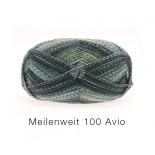 Lana Grossa Meilenweit 100 Avio f1757 gröngråturkosmel.