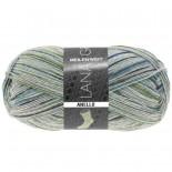 Lana Grossa Meilenweit 100 Anello f4258 grå med grönblått