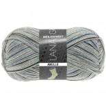 Lana Grossa Meilenweit 100 Anello f4260 grå med blåbrunsvart
