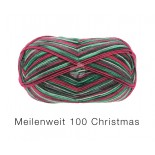 Lana Grossa Meilenweit 100 Christmas f6751 rödgrönvit