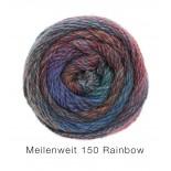 Lana Grossa Meilenweit Rainbow 150 f105 blårosagrön