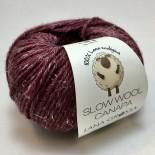 Lana Grossa Slow wool Canapa f0013 vinröd