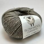 Lana Grossa Slow wool Canapa f0004 gråbeige