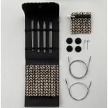 Lana Grossa KnitPro Stickset Svart Edelstahl 3,0-5mm