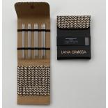 Lana Grossa KnitPro Strumpstickset Alcantara Edelstahl 15cm  2,25-3,5mm