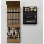 Lana Grossa KnitPro Strumpstickset Svart Edelstahl 15cm  2,25-3,5mm