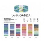 Lana Grossa Meilenweit Solo Cotone Unicorn f5302 blårosagrön