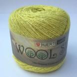 Hjertegarn Wool silk f3019 gulgrön