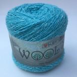 Hjertegarn Wool silk f3010 turkos