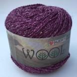 Hjertegarn Wool silk f3028 lila