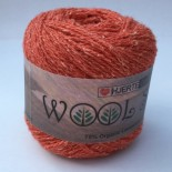 Hjertegarn Wool silk f3017 bränd orange